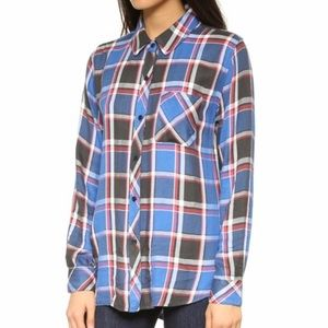 Rails hunter plaid button down blue black red sm